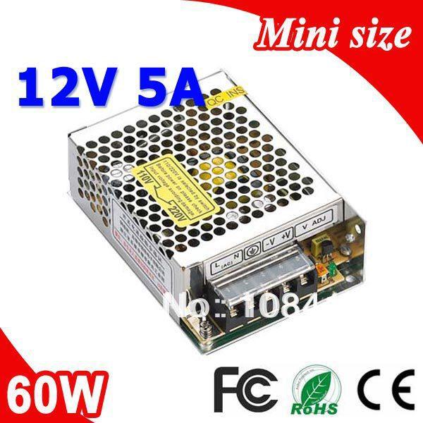 MS-60-12 60W 12V 5A Mini size LED Switching Power Supply Transformer 110V 220V AC to DC output
