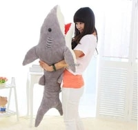 fancytrader good selling 51 130cm huge stuffed soft plush funny giant shark toy good gift for kids free shipping ft50892