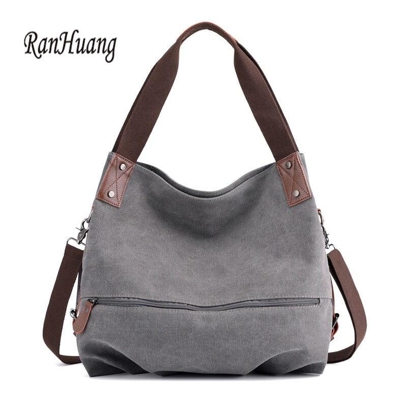 RanHuang Casual Women Canvas Handbags High Quality Ladies Shoulder Bags Fashion Messenger Bags female bag A1401