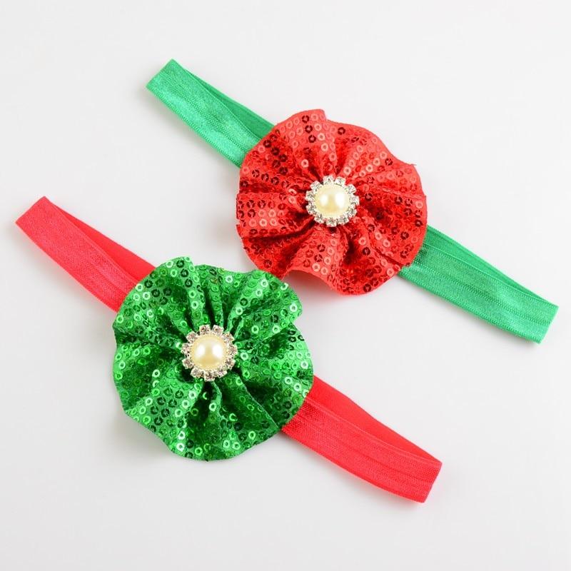 20 pçs/lote sequin fab flor cabelo bandana acessório, bailarinas brilhantes feltro flor hairband