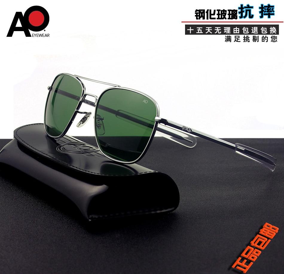 Aviation Sunglasses Men 2020 high quality brand rectangle American Army Military Optical AO Sun Glas