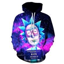2018 nouveau personnalisé 3D Sweatshirts Hip Hop hommes/femmes chapeau drôle impression Rick Morty fou scientifique hiver lâche mince à capuche hauts