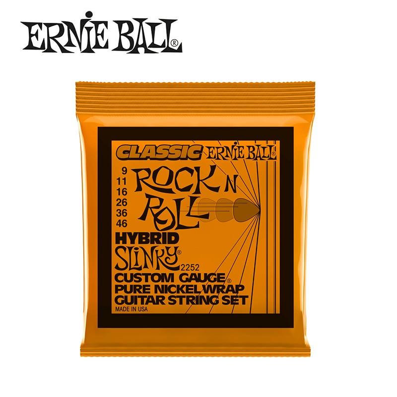 3 Packs! Original Ernie Ball 2252 Classic Pure Nickel Wrap Hybrid Slinky Electric Guitar Strings 9-46