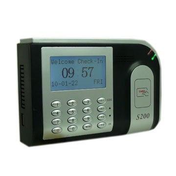 S200 negro 125khz RF Promixty tarjeta de tiempo terminal para reloj con software TCP/IP SDK