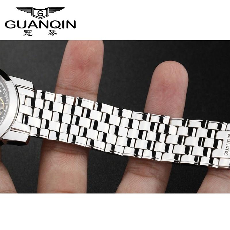 Reloj pulsera 100% pulsera de acero inoxidable, reloj correa de acero para relojes GUANQIN