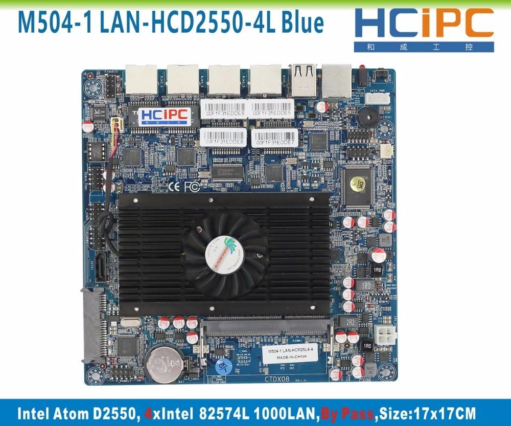 Placa base HCiPC M504-1 LAN-HCD2550-4L (BlueF) D2550 4LAN, placa base por Pass 4LAN Firewall, sistema Firewall, envío gratis