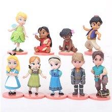 Disney 2018 Neueste 9 teile/los 5-8 cm Prinzessin Spielzeug Schneewittchen Ariel Rapunzel Belle Moana Sofia PVC Action zahlen Dolls Spielzeug Geschenke