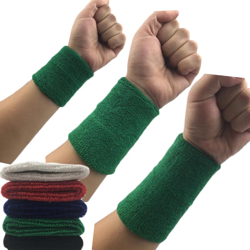 1Pcs Wrist Sweatband Tennis Sport Wristband Volleyball Gym Wrist Brace Support Sweat Band Towel Brac