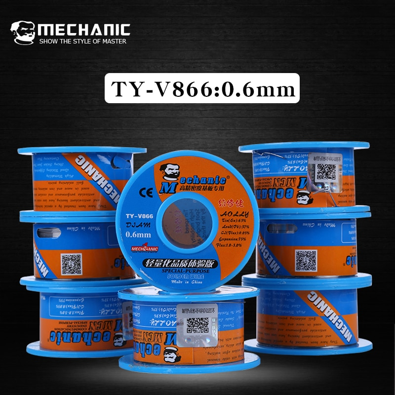2Pcs/Lot Mechanic Solder Wire 0.6mm 42g Rosin Core Tin Soldering Welding Flux Low Melting Point BGA Repair Tools