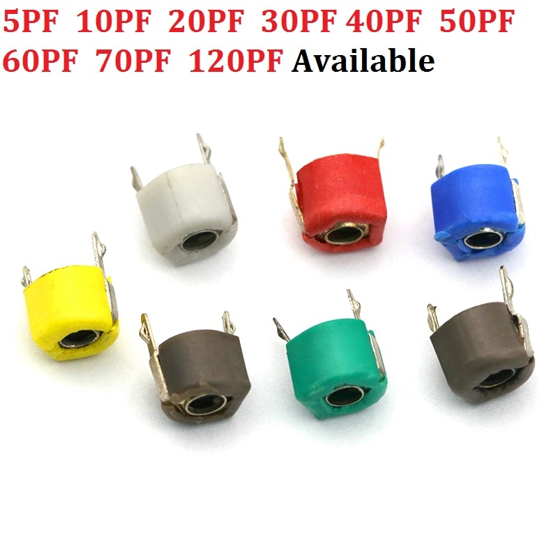 5PF 10PF 20PF 30PF 40PF 50PF 60PF 70PF 120PF condensateur ajustable tondeuse à capacité variable en plastique 6mm JML06-1-120P 20/30/P