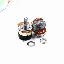 2 uds WH138-1 potenciómetro con interruptor dimmer interruptor regulador de la resistencia ajustable B500K B10K B5K B20K B100K B250K B50K resistencia