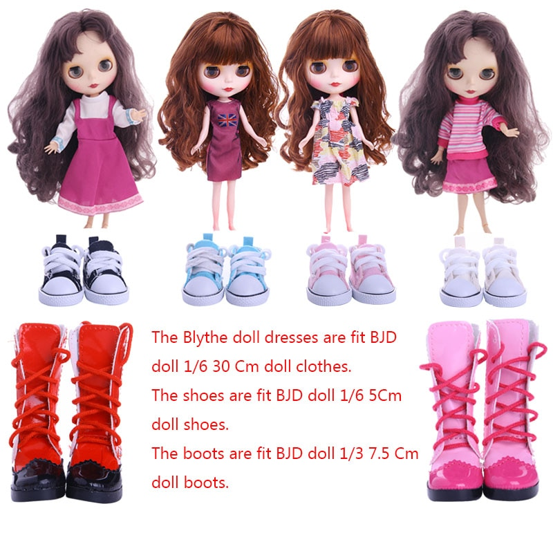 Blyth Doll Dress Shoes Boots Best Premium Dress For Blyth Doll Clothes Toy Dress For BJD Doll 1/6 30 Cm Doll Toy Generation недорого