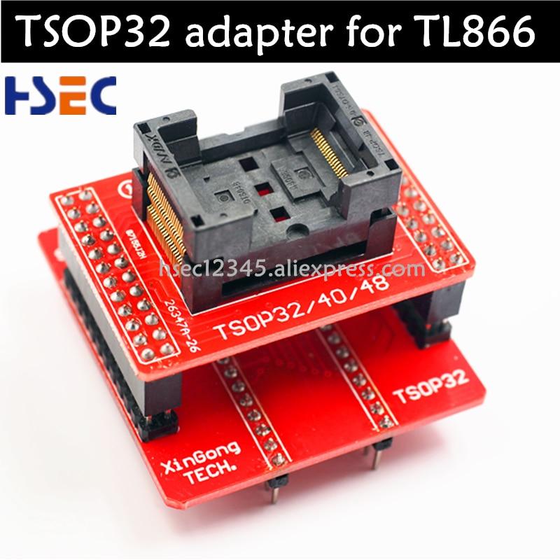 TSOP32 Базовый адаптер + TSOP32 TSOP40 TSOP48 разъем для minipro TL866CS TL866A Xgecu TL866ii plus tl866 USB Универсальный программист