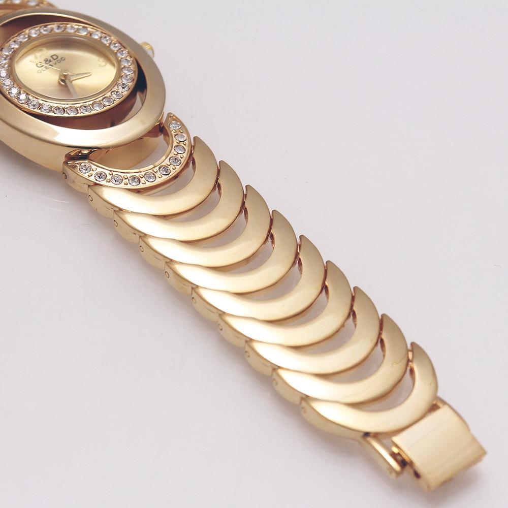 WA111 Brand New Luxury G&D Wome Quartz Wristwatches Stainless Steel Relojes Mujer Golden Ladies Bracelet Watch Relogio Feminino enlarge