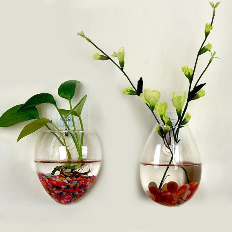 Plantas colgando de la pared jarrón de la pared de cristal Terrario de flores largo Tubular claro hogar Decoración hidroponia agua Hogar y hogar