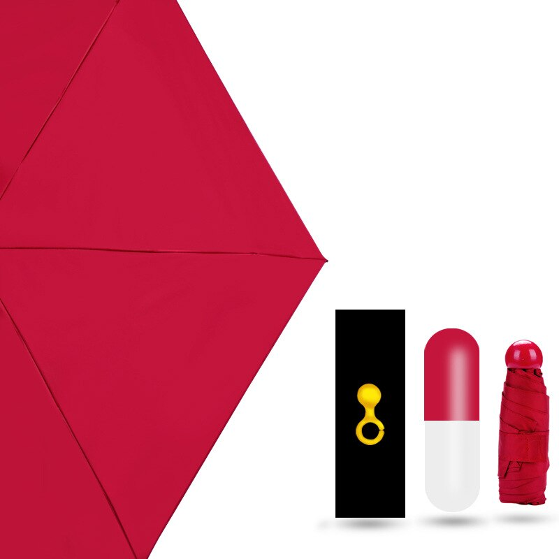 Mini paraguas plegable de moda en bolso de mujer, mini paraguas de bolsillo, mini protección solar portátil para mujeres