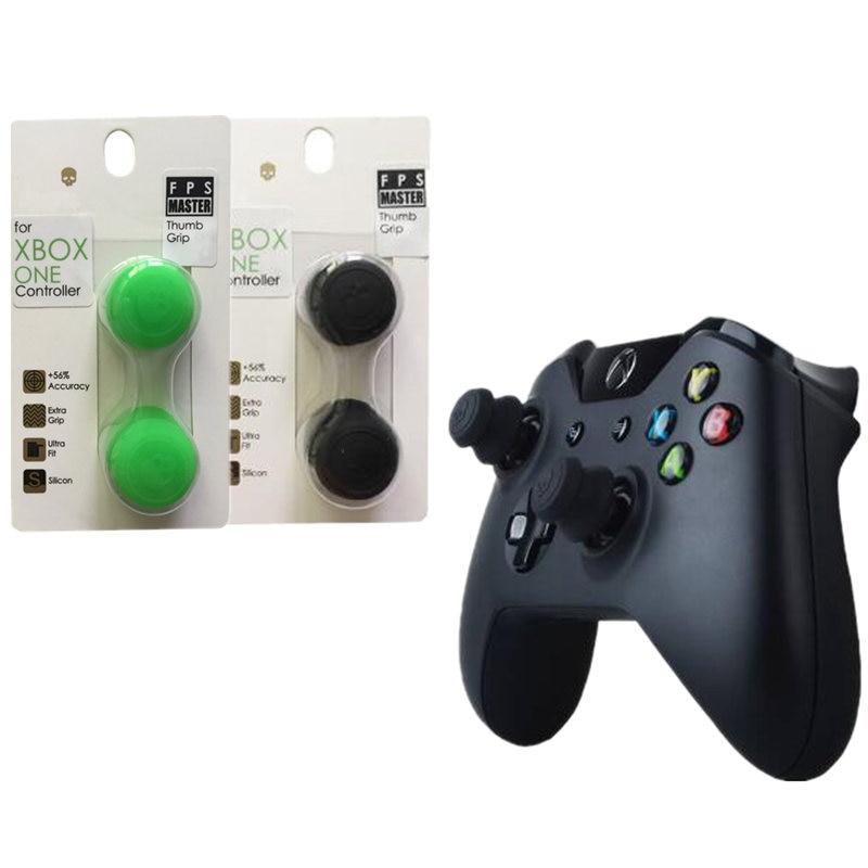 Agarres analógicos de silicona, tapa de pulgar para Xbox One, controlador Skull & Co. FPS Master, cubierta para el dedo para mando de Xbox One