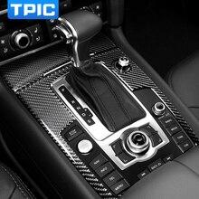 Auto Innen Änderung Carbon Fiber Getriebe Shift Panel Schutz Auto Aufkleber Styling Für Audi Q7 4l 2008-2015 zubehör