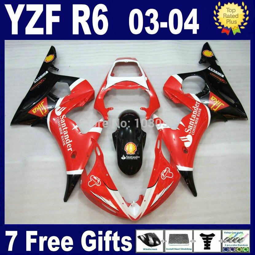 Customize Road race fairing kits For Yamaha R6s Santander 03 04 05 plastics YZF R6 2003 2004 2005 aftermarket moto Fairings p