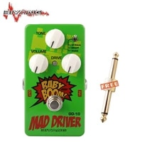 biyang od 10 electric guitar baby boom mad drive overdrive 3 mode power effect pedal musical instrument 270 d