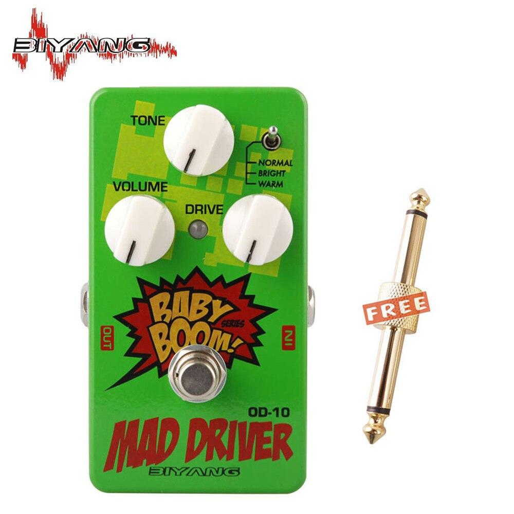 Biyang OD-10 guitarra eléctrica, Baby Boom Mad Drive Overdrive, 3 modos de efecto de energía, Pedal Musical, instrumento 270 D