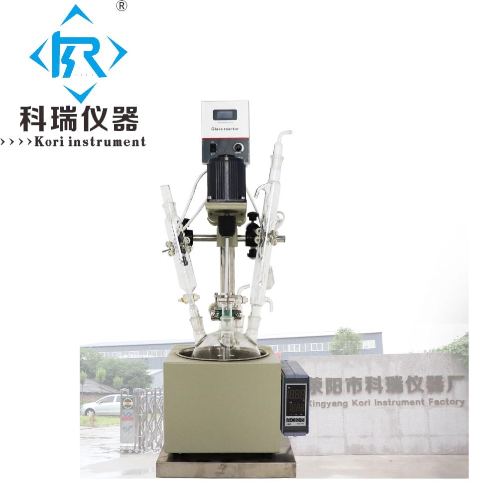 2l Laboratory Vacuum Reflux Condenser Sphere High borosilicate glass reactor