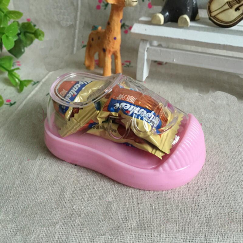 4pcs Cute Boy and Girl Children's Shoes Shape Candy Box  Baby Shower Kids Birthday Party Favors Gift