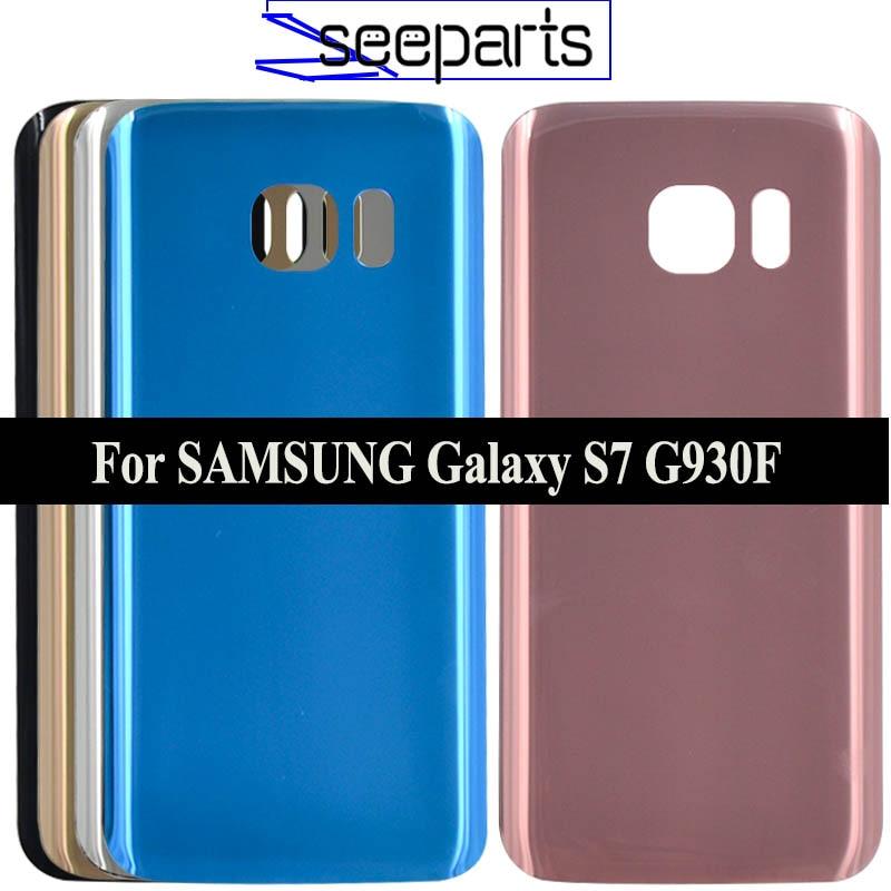 """5,1 """"Für SAMSUNG Galaxy S7 G930F Zurück Batterie Abdeckung Tür Hinten Glas Gehäuse Fall Für SAMSUNG Galaxy S7 G930 /G930F Batterie Abdeckung"""