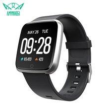 Смарт-часы AMYNIKEER с цветным экраном, фитнес-трекер, мониторинг сердечного ритма, артериального давления, умные часы для Android IOS
