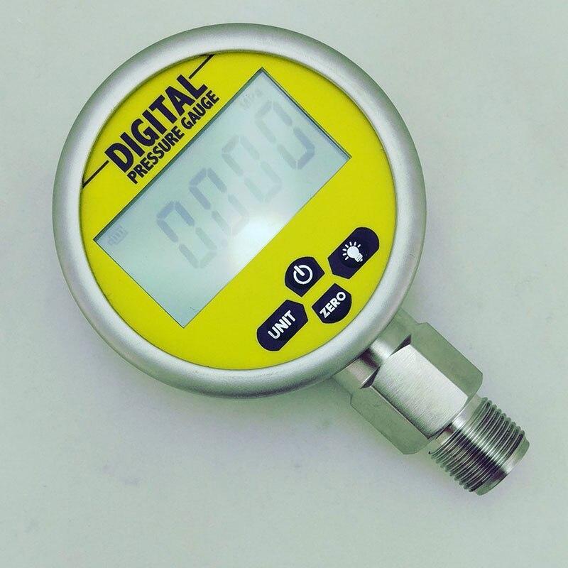 مقياس ضغط كهربائي رقمي 80 مللي متر 0-4 ميجا باسكال (580PSI) ، مقياس ضغط عالي الدقة من الفولاذ المقاوم للصدأ