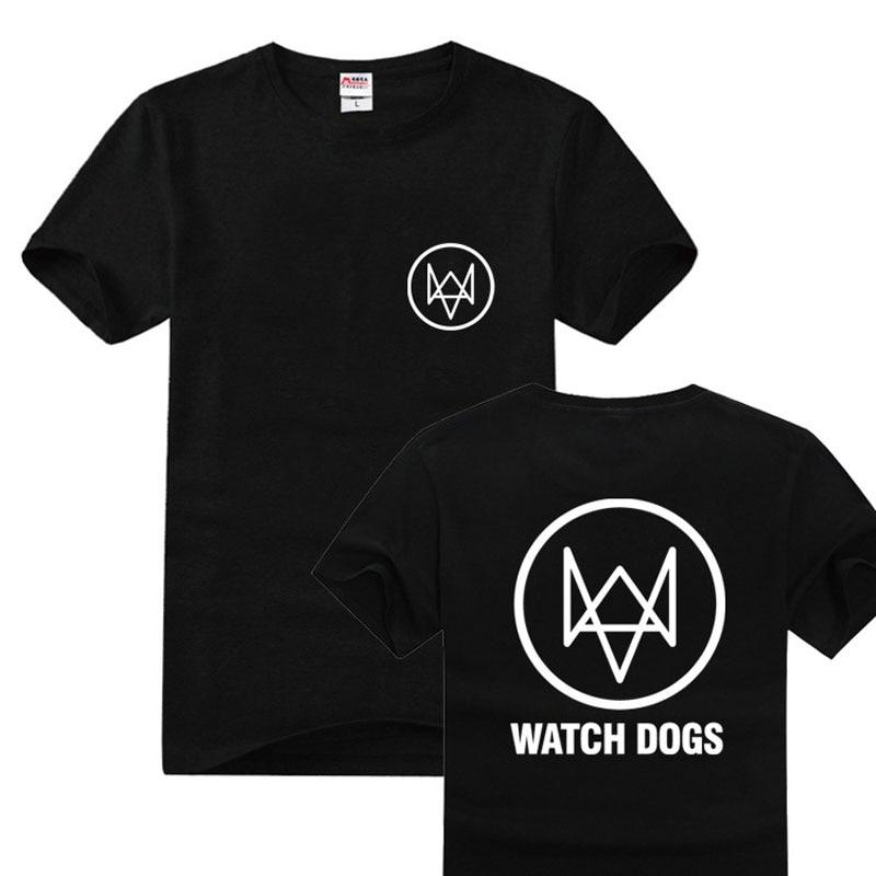 Moda Anime Relógio Cães Impressos Camisetas Mangas Curtas Camiseta Gola de Algodão Ocasional Camisetas Primavera Outono Topos de Verão Presente