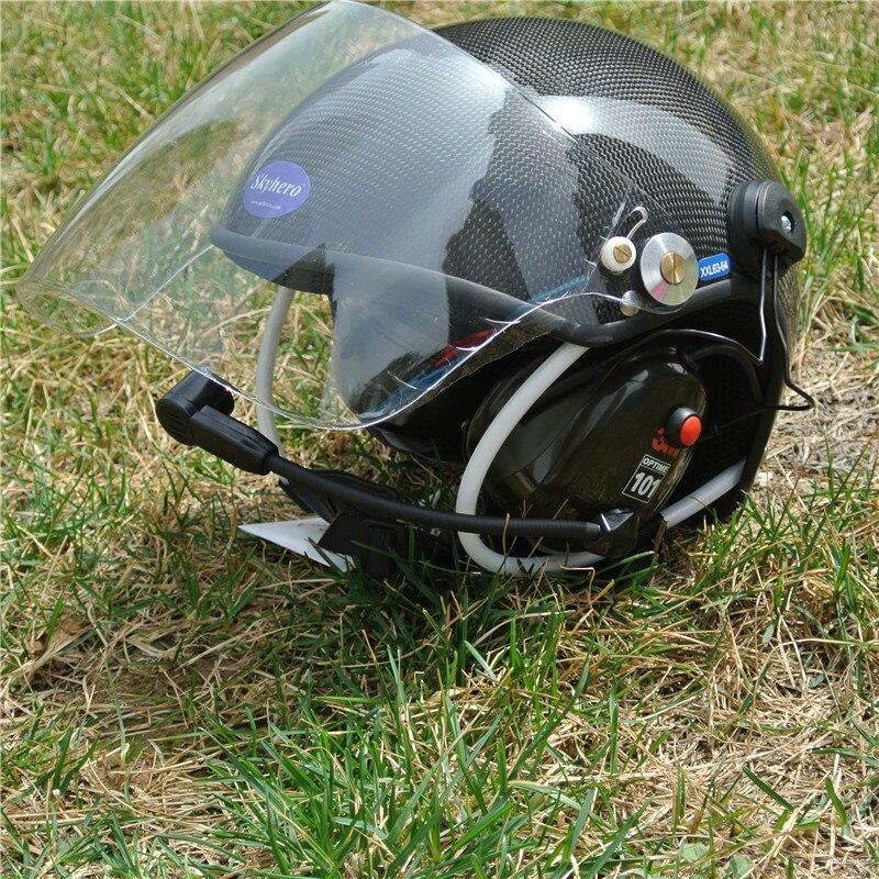 Carbono Real material casco paramotor con cascos con cancelación de ruido fábrica directamente venta envío gratis