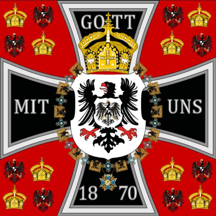 Der König von Preußen der Standard 1871 Preußen Preußische Flagge 3x3 FT 90x90 cm Deutschland Fahnen banner