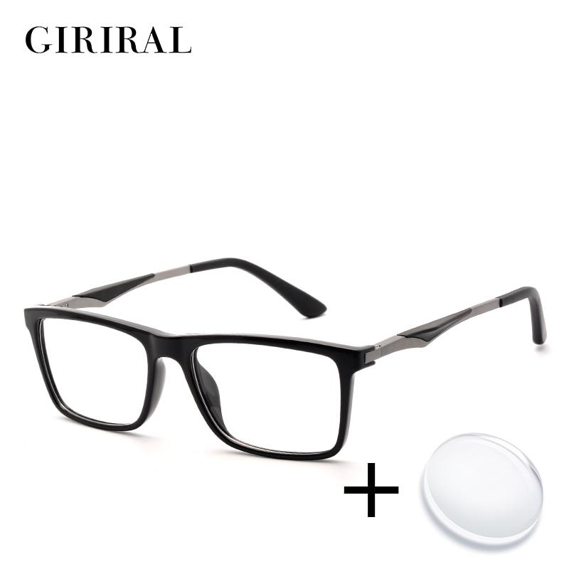 TR90 men prescription glasses retro reading colored computer clear sight optical transparent myopia