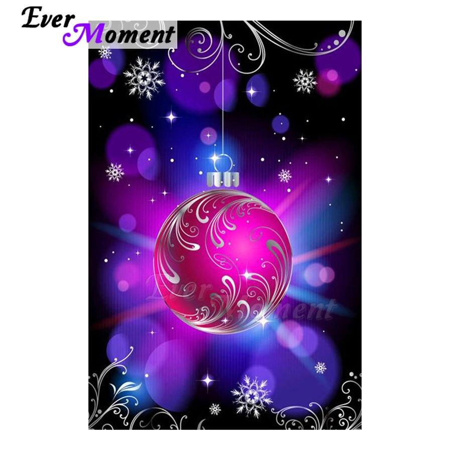 Bola de pintura de diamantes Navidad decoración Hobby ilustraciones bordado de diamantes completo cuentas cuadradas mosaico S2F1593