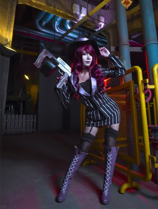 The Bounty Hunter Mafia Miss Fortune Cosplay Costume Anime Custom Made Suit