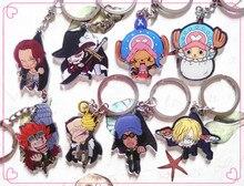 1pcs Anime Anime One Piece Luffy Nami Roronoa Zoro Sanji  Pendants keychain Keyrings Key Holder Llavero