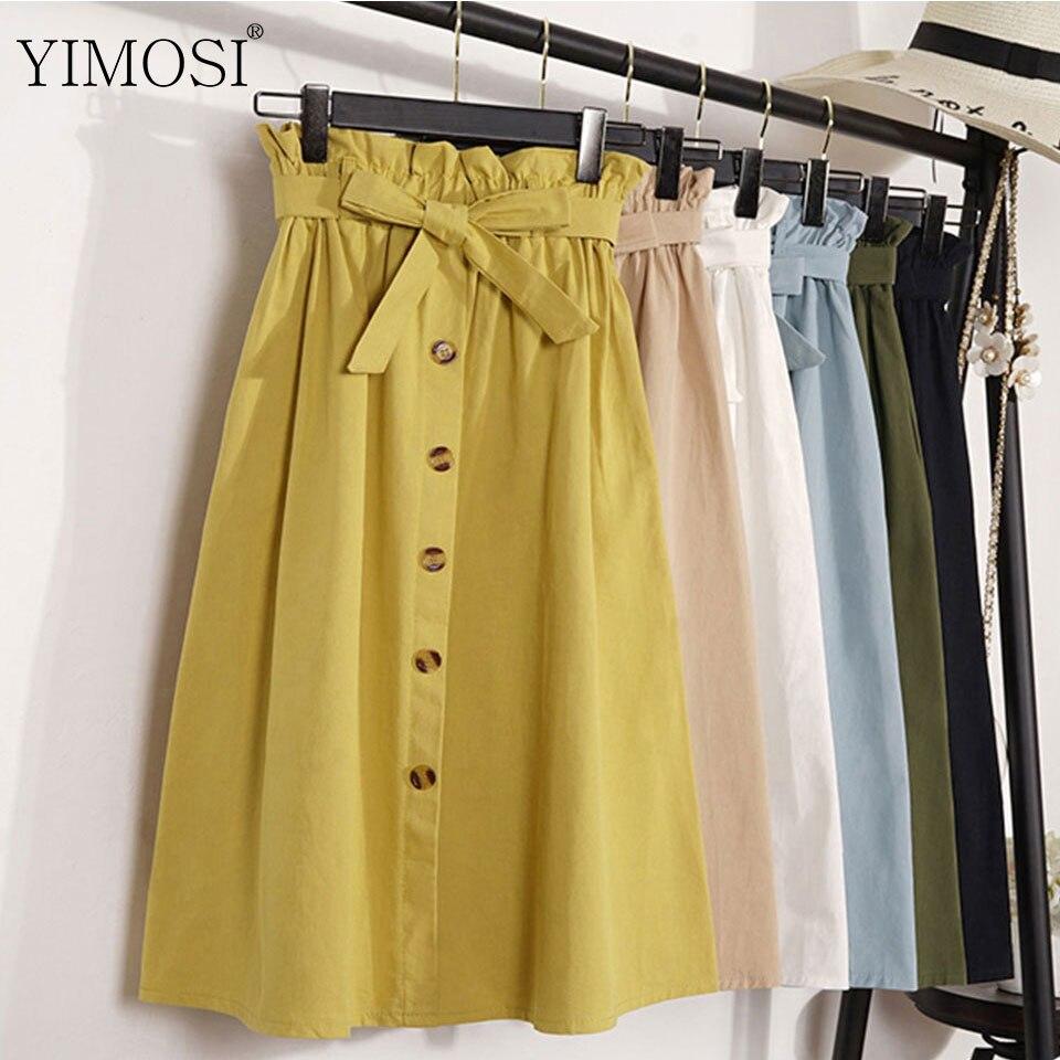 Женская плиссированная юбка, летняя, с высокой талией, большого размера, 2019