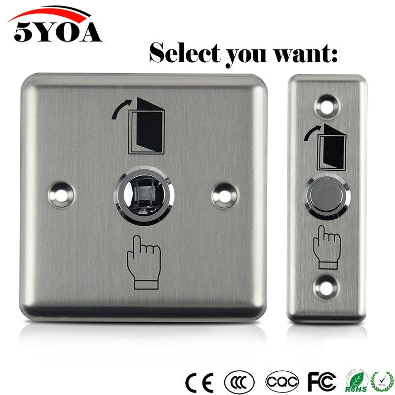 Кнопка выхода из нержавеющей стали, кнопка открывания двери, открывалка для магнитного замка, контроль доступа, защита домашней безопасности