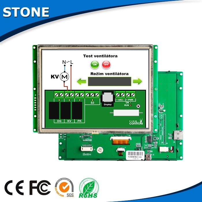 Intelligent LCD 8 Inch Display Panel For Engineering Machinery