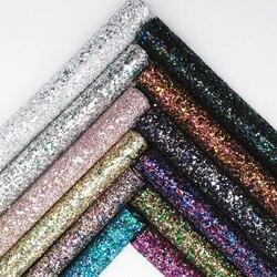 Glitterwishcome 21x29 cm a4 tamanho chunky glitter folhas de couro sintético falso tecido de couro para arcos, gm005a