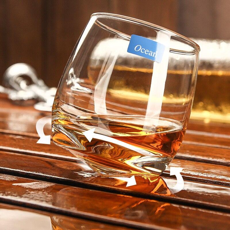 Fashion Amusing Cuban Ocean Series Whiskey Cup Cone Tumbler Rotatable Whisky Wine Glass Thule Nmd Verre Vidro Gafas Xicaras Copo