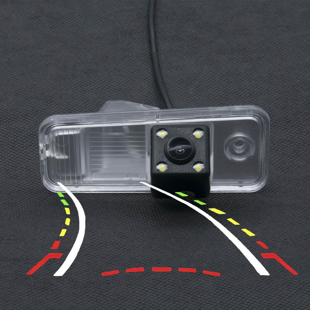 Car CCD Intelligent Dynamic Trajectory Tracks Parking Rear view Camera for Hyundai ix25 2014 2015 Car Waterproof Backup Camera