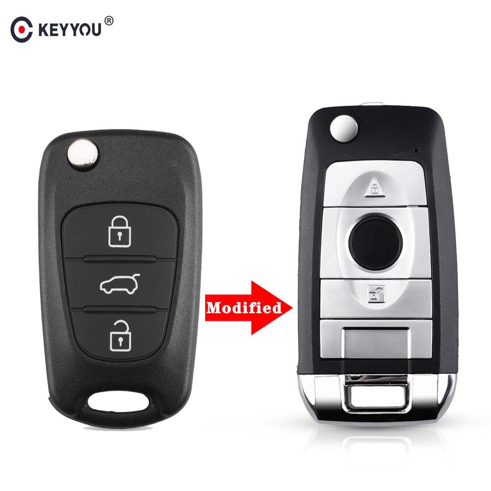 KEYYOU 3 Buttons Modified Remote Flip Folding Key Shell For Kia sportage Picanto 3 rio k2 K5 Cerato Ceed Soul Car Key Fob Case