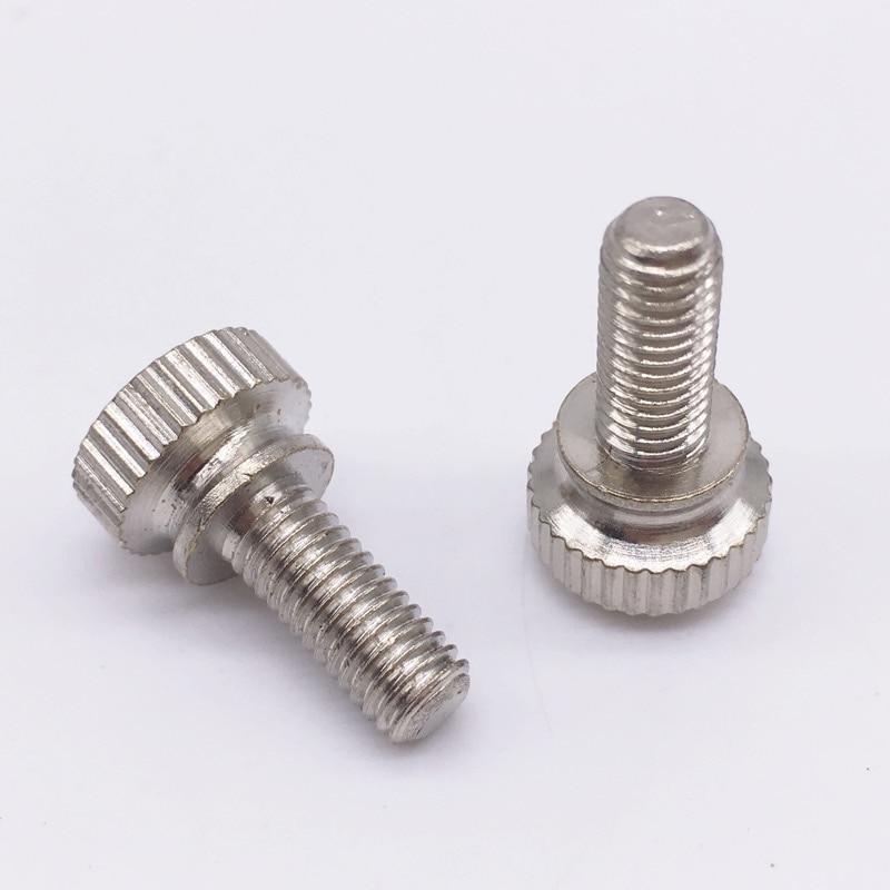 Tornillos de pulgar Wkooa M3 M4 M5, tornillos de ajuste de rosca de cabeza redonda, tornillos de ajuste manual de latón niquelado, paquete de 50