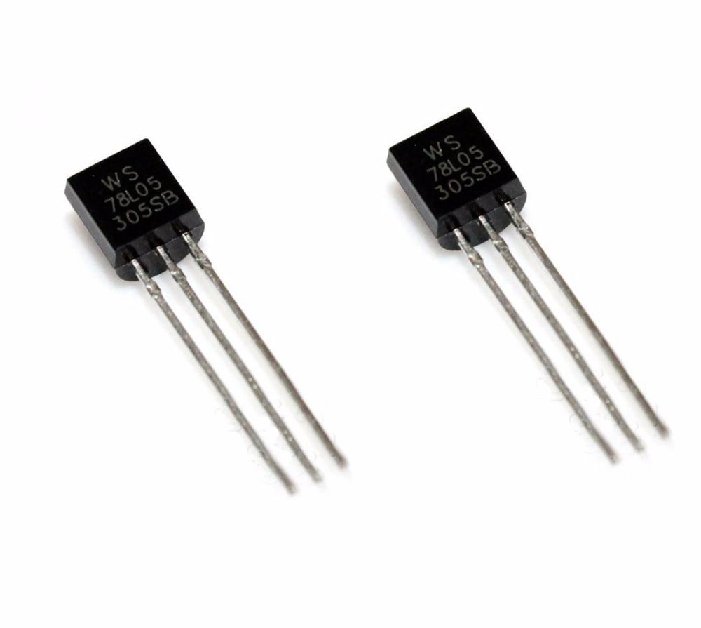 50 unidades WS78L05 78L05 WS TO-92 IC REG LDO 5V .1A nuevo de buena calidad