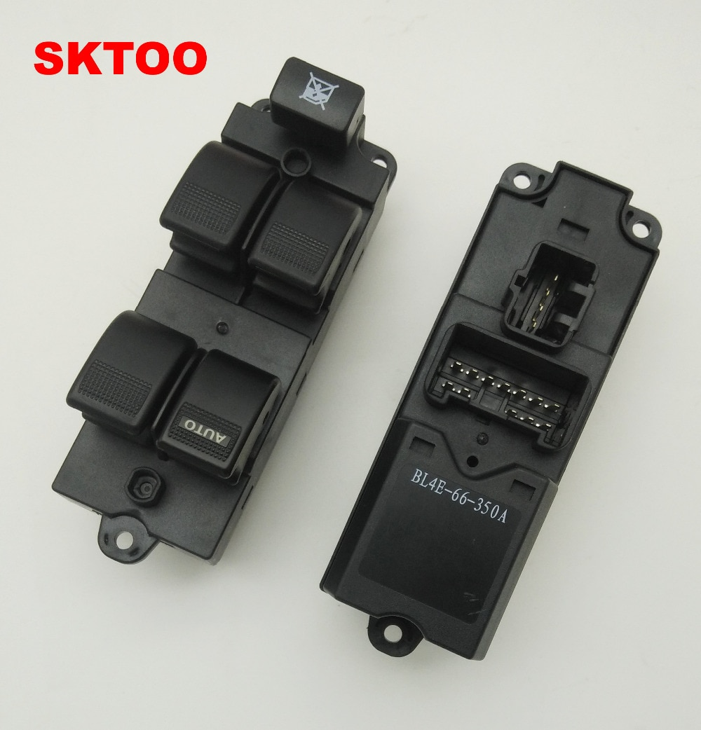 Interruptor de elevador de ventana SKTOO con función de prevención de sujeción manual para Mazda 323 interruptor de elevación frontal izquierda BL4E-66-350A