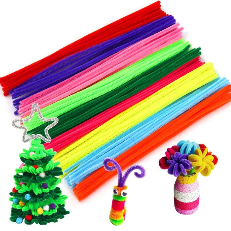 30/50/100pcs Multicolore Steli di Ciniglia spedizione Tubo Cleaners Fai Da Te A Mano di Arte Artigianato Materiale Bambini Creatività Artigianato Bambini giocattoli