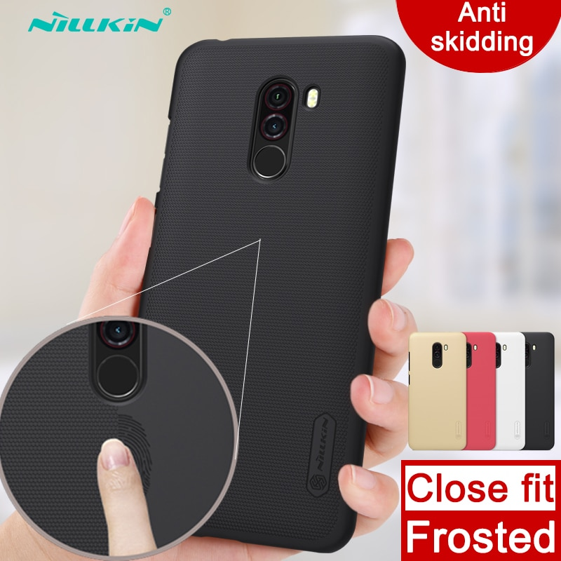 Funda para Xiaomi Pocophone F1 Nillkin Super Frosted Shield, funda trasera dura, funda antideslizante para Xiaomi Poco F1