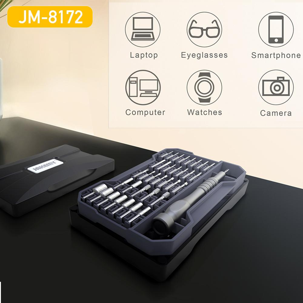 Jakemy-8172 الدقة المغناطيسي مفك كيت للهاتف المحمول كاميرا الكمبيوتر المحمول نظارات لعب ووتش أدوات إصلاح اليد مجموعة